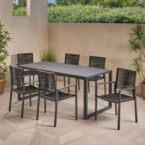 6 Seater Aluminum Dining Set - NH108013