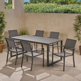 Outdoor 6 Seater Aluminum Dining Set - NH308013