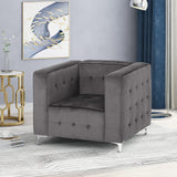 Modern Glam Cube Velvet Club Chair - NH682013