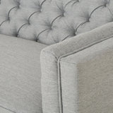 Glam Button Tufted Fabric 3 Seater Sofa - NH167013