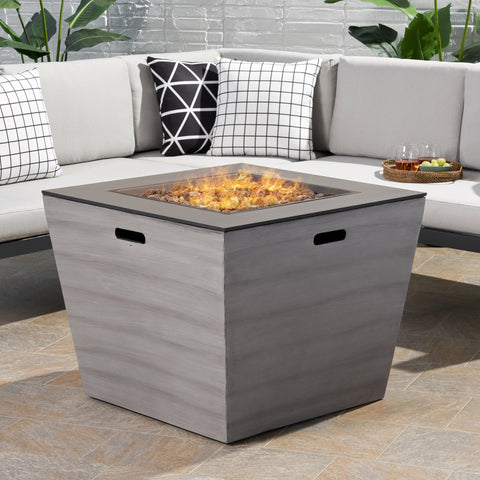 Outdoor Modern 30-Inch Square Fire Pit - NH934113