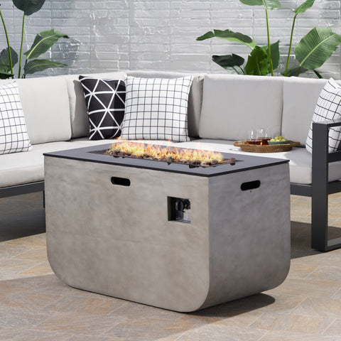 Outdoor Modern 40-Inch Rectangular Fire Pit - NH244113