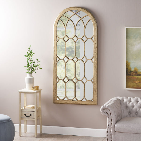Traditional Arched Windowpane Mirror - NH055113
