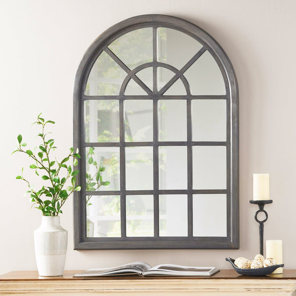 Traditional Arched Windowpane Mirror - NH255113