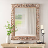 Traditional Mirror with Floral Carved Frame - NH755113