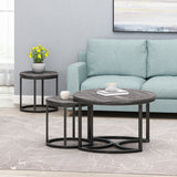 Modern Industrial Coffee Table Set - NH855113