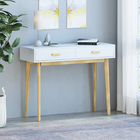 Mid-Century Modern 2 Drawer Console Table - NH834113