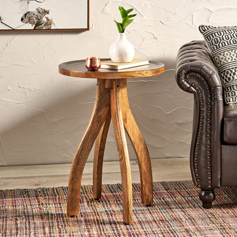 Boho Mango Wood End Table - NH927113