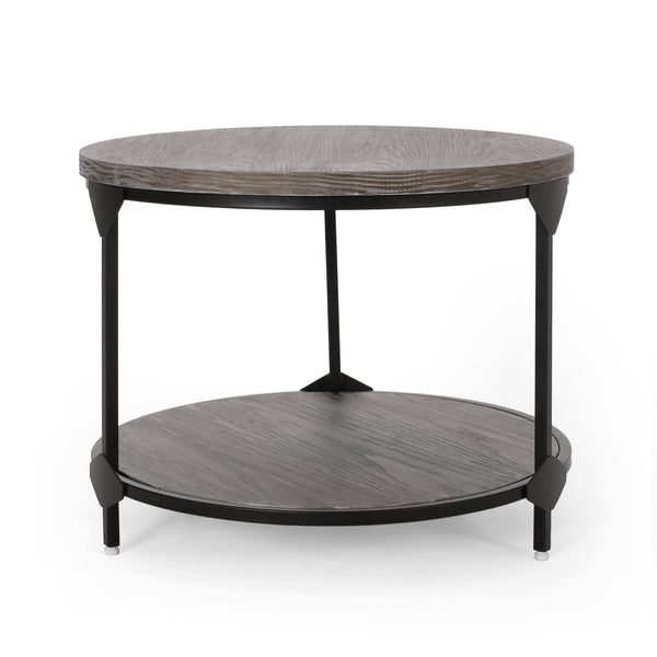 Modern Industrial Round Coffee Table - NH701313