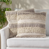 Hand-Loomed Boho Throw Pillow - NH455213