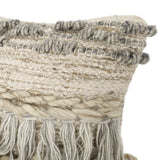 Hand-Loomed Boho Throw Pillow - NH035213