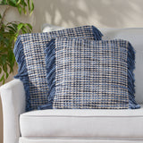 Hand Loomed Boho Throw Pillow - NH186213