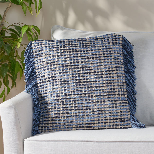 Hand Loomed Boho Pillow Cover - NH976213