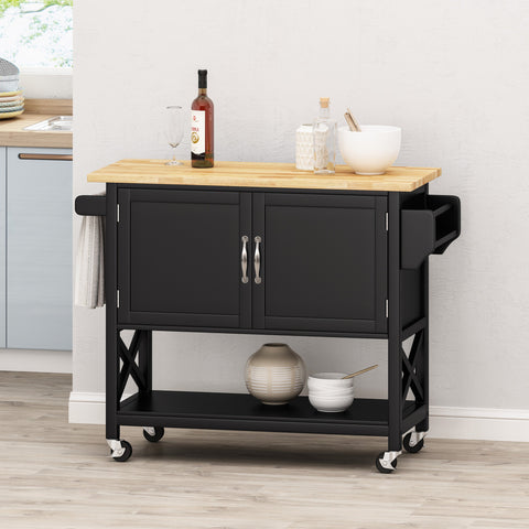 Farmhouse Kitchen Cart with Wheels - NH343213