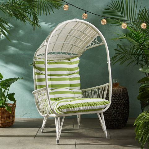 Outdoor Wicker Standing Basket Chair with Cushion - NH233113