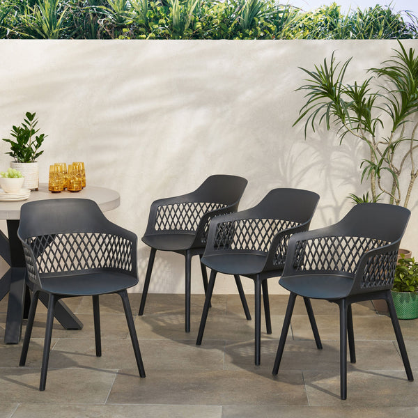 Outdoor Modern Dining Chair (Set of 4) - NH081213
