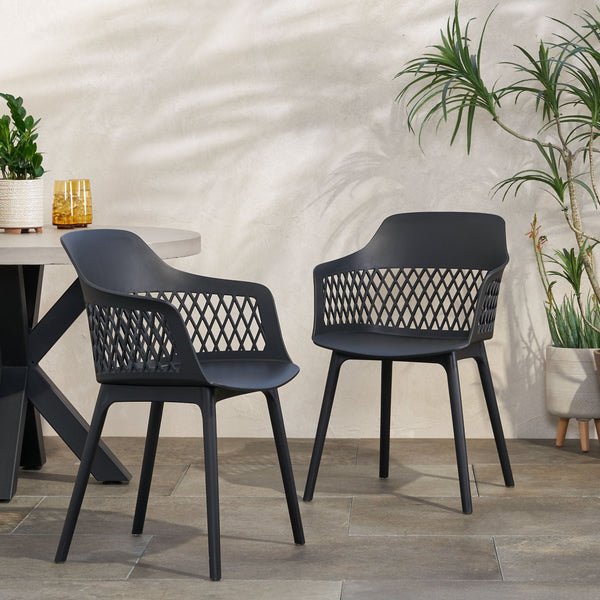 Outdoor Modern Dining Chair (Set of 2) - NH871213