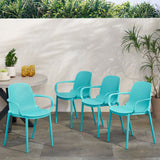 Outdoor Modern Stacking Dining Chairs - NH133213