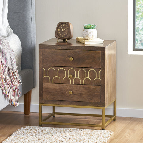 Contemporary Wooden Night Stand - NH127213