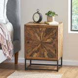 Boho Wooden Night Stand - NH027213