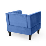Contemporary Channel Stitch Velvet Club Chair - NH067213