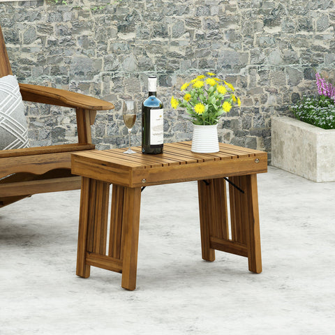 Outdoor Acacia Wood Folding Side Table - NH447213