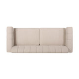 Contemporary Channel Stitch Fabric 3 Seater Sofa - NH328213