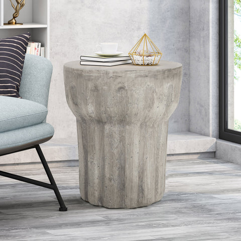 Contemporary Lightweight Concrete Accent Side Table - NH477213