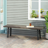 Outdoor Modern Industrial Aluminum Dining Bench - NH050313