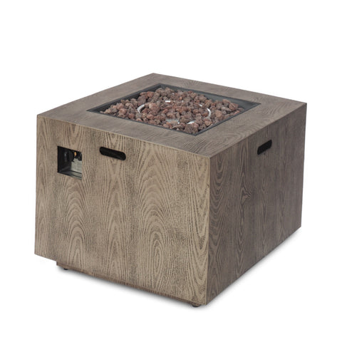 Cube Wood Finish Propane Fire Pit - NH728213