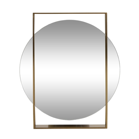 Modern Round Framed Wall Mirror - NH455313
