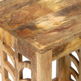 Handcrafted Boho Mango Wood Nesting Tables - NH416313