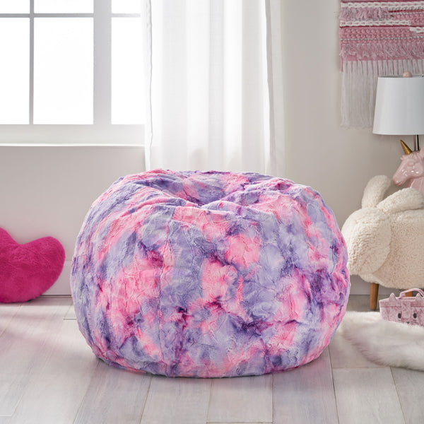Modern 3 Foot Sorbet Tie-Dye Bean Bag - NH690313