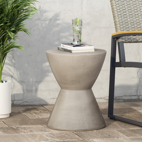 Outdoor Lightweight Concrete Side Table - NH804313