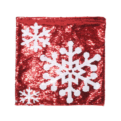 Glam Sequin Christmas Throw Pillow Cover - NH887313