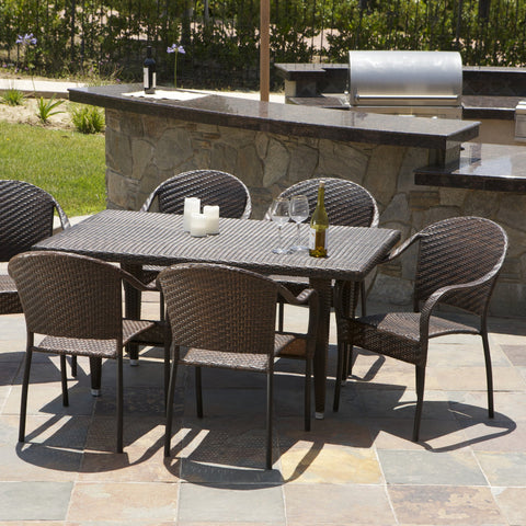 7 Piece Wicker Outdoor Dining Set - NH330412