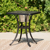 Outdoor Patina Copper Bistro Table with Ice Bucket - NH576003