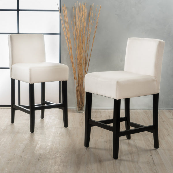 Modern 26-Inch Fabric Counter Stool (Set of 2) - NH684992