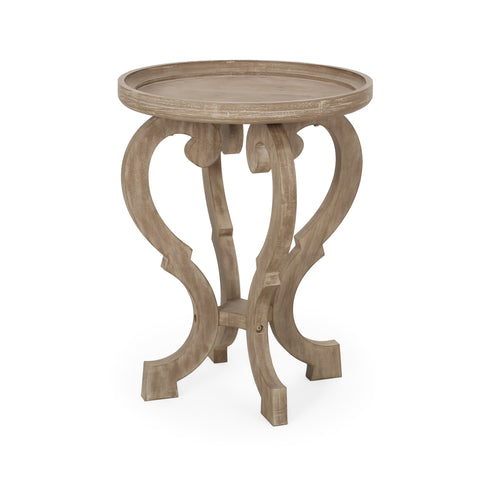 French Country Accent Table with Round Top - NH291313