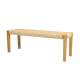 Outdoor Modern Industrial Acacia Wood Bench - NH214313