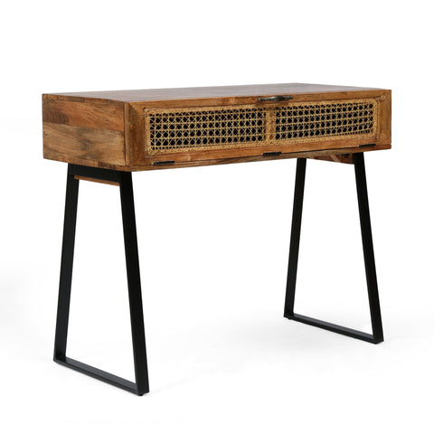 Handcrafted Boho Mango Wood Console Table - NH136313