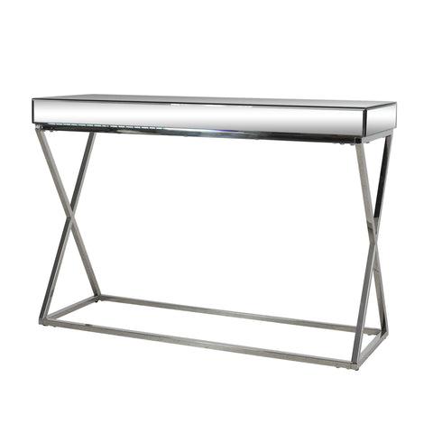 Modern Glam Console Table with Mirror Tabletop - NH245313