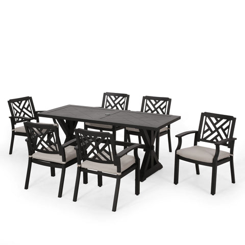 Outdoor Aluminum 7 Piece Dining Set - NH900413