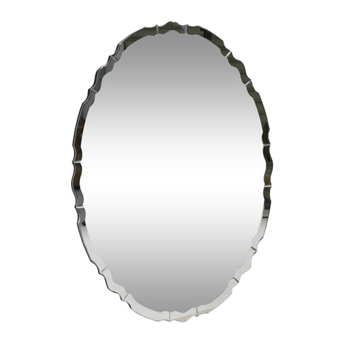 Modern Glam Oval Wall Mirror - NH984313