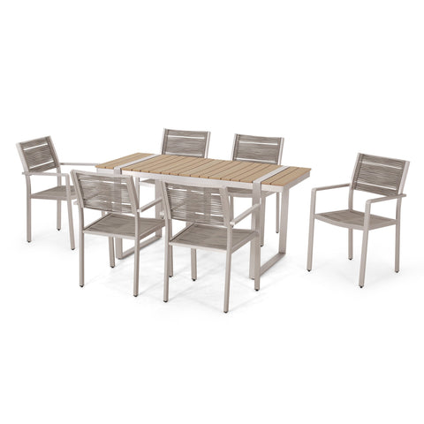 Outdoor 7 Piece Aluminum Dining Set - NH827313