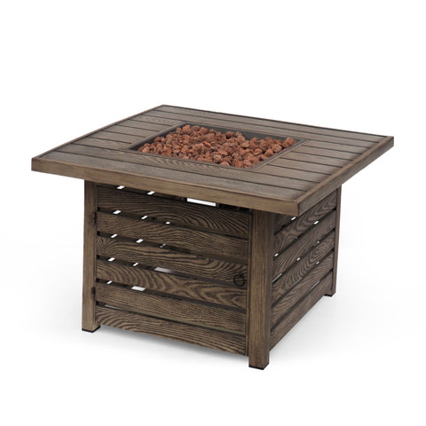 Outdoor 50,000 BTU Square Fire Pit - NH440413