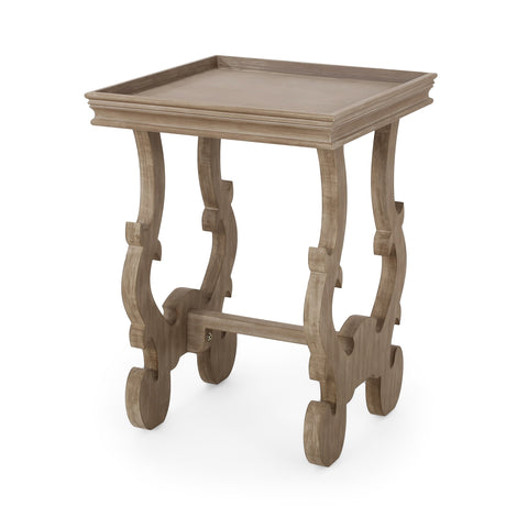 French Country Accent Table with Square Top - NH681313