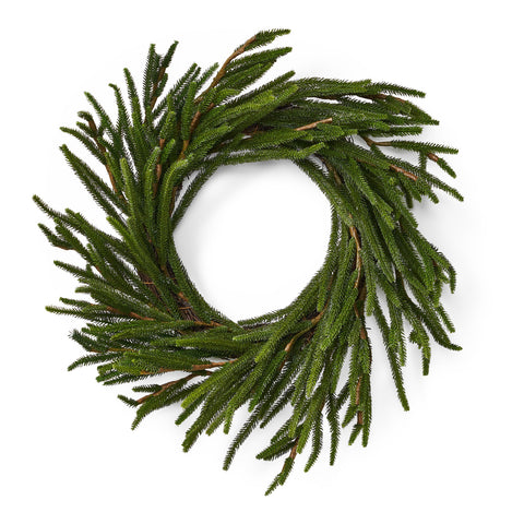 "18"" Artificial Cypress Wreath - NH070413"