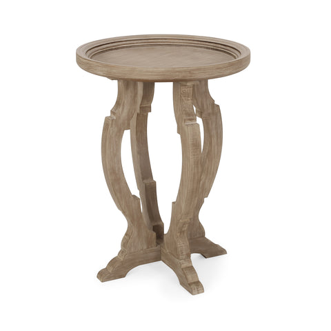French Country Accent Table with Round Top - NH491313