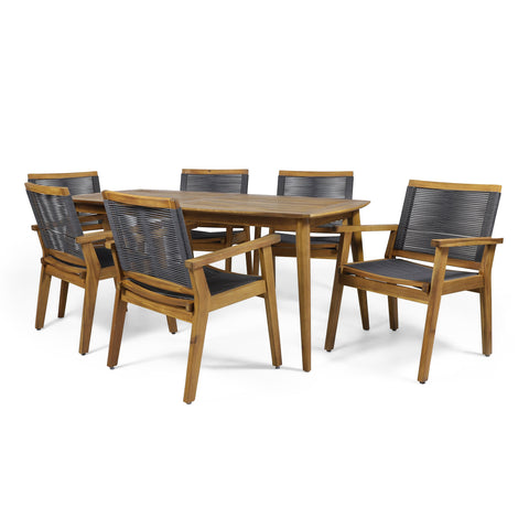 Outdoor 7 Piece Acacia Wood Dining - NH196313